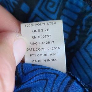 Geometric/Aztec print ombre infinity scarf
